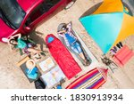 Couple With Camping Equipment...