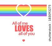 rainbow heart. vector... | Shutterstock .eps vector #183093275