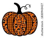 pumpkin with prints. pumpkin... | Shutterstock .eps vector #1830943427