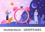 circadian rhythm concept with... | Shutterstock .eps vector #1830953681