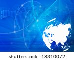 asia map technology style... | Shutterstock . vector #18310072