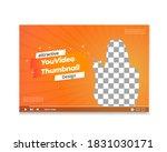 attractive thumbnail design for ... | Shutterstock .eps vector #1831030171