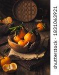 Mandarin Oranges On Rustic...