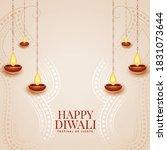 happy diwali elegant festival... | Shutterstock .eps vector #1831073644