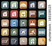 real estate flat icons with... | Shutterstock .eps vector #183108125