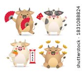 2021 year of the ox chinese new ...   Shutterstock .eps vector #1831088824