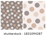 simple dotted seamless vector... | Shutterstock .eps vector #1831094287