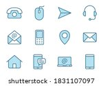 contact us linear vector icons...   Shutterstock .eps vector #1831107097