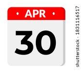 30 april calendar icon vector | Shutterstock .eps vector #1831116517