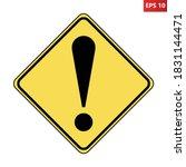 other danger ahead us road sign.... | Shutterstock .eps vector #1831144471