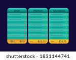 vector pricing table template ...