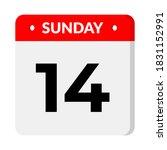 sunday 14 calendar icon... | Shutterstock .eps vector #1831152991