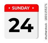 sunday 24 calendar  vector... | Shutterstock .eps vector #1831155271