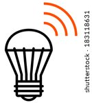 Wireless LED light vector icon - stock vector