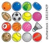 sport balls | Shutterstock .eps vector #183119429