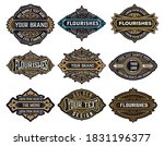 mega pack of labels and banners | Shutterstock .eps vector #1831196377