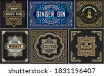 set whiskey labes. vector... | Shutterstock .eps vector #1831196407