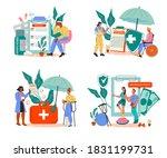 set of banners for medical... | Shutterstock .eps vector #1831199731