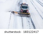 Snowplow Truck Removing The...