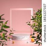 Pink Modern Mockup White Podium ...