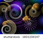 Space 3d Seamless Pattern....