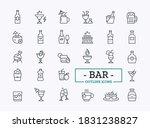 beverage thin line icon set.... | Shutterstock .eps vector #1831238827