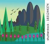 colorful landscape illustration ...   Shutterstock .eps vector #1831244374