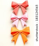 colored paper origami bows for... | Shutterstock . vector #183124565