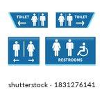 Set Toilet Signs. Men And Women ...