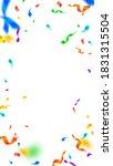 streamers and confetti. festive ... | Shutterstock .eps vector #1831315504