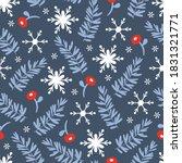 seamless pattern for christmas... | Shutterstock .eps vector #1831321771