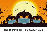 happy halloween poster. happy... | Shutterstock .eps vector #1831324921
