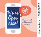 we are open now re opening...   Shutterstock .eps vector #1831350757