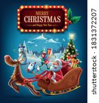 merry christmas with santa... | Shutterstock .eps vector #1831372207