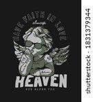 heaven slogan with tattooed... | Shutterstock .eps vector #1831379344