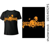 helloween   pumpkins united t ... | Shutterstock .eps vector #1831405291