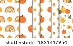 autumn seamless patterns set.... | Shutterstock .eps vector #1831417954