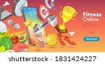 3d vector conceptual... | Shutterstock .eps vector #1831424227