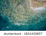 Rock And Sea. Aerial View Of...