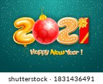 merry christmas and happy new... | Shutterstock .eps vector #1831436491