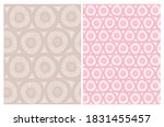 cute abstract floral seamless... | Shutterstock .eps vector #1831455457