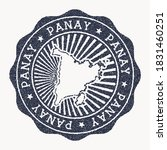 panay stamp. travel rubber... | Shutterstock .eps vector #1831460251