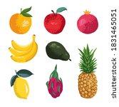 vector set of fruits  apple ...   Shutterstock .eps vector #1831465051