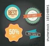 vintage style sale tags design | Shutterstock .eps vector #183148841