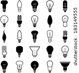 light bulb icons   vector... | Shutterstock .eps vector #183149555