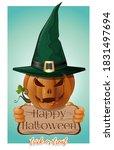 halloween design. cheerful... | Shutterstock .eps vector #1831497694