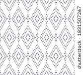 tribal ikat pattern. white and... | Shutterstock .eps vector #1831507267