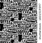 coffee typography pattern.... | Shutterstock .eps vector #1831519597