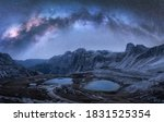 Milky Way Arch Over Mountains...