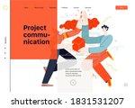 business topics   project... | Shutterstock .eps vector #1831531207